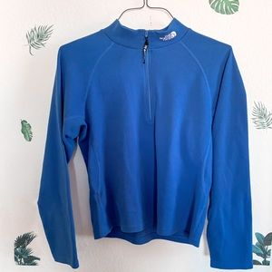 The North Face Mock Neck Quarter zip in blue
